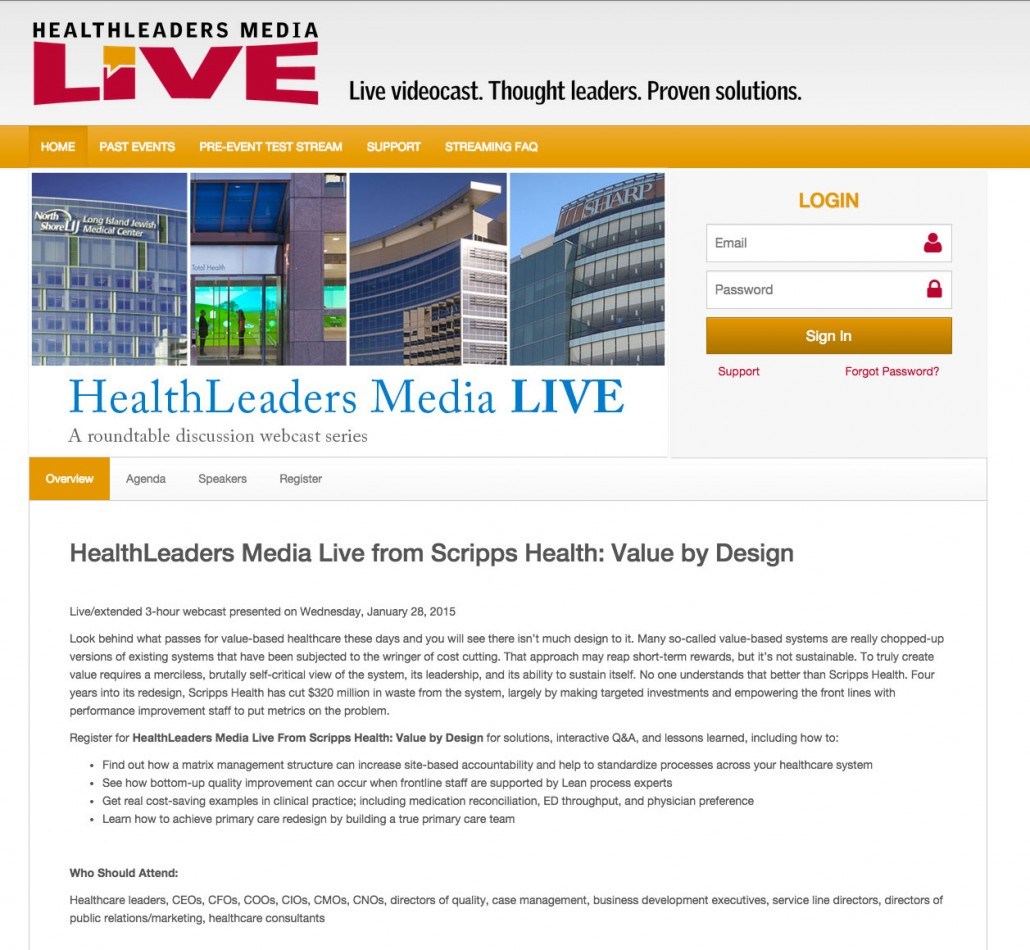 how to make a live webcast on your website